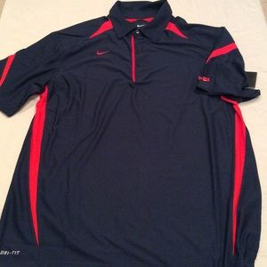 Red and Black Nike Polo Shirt